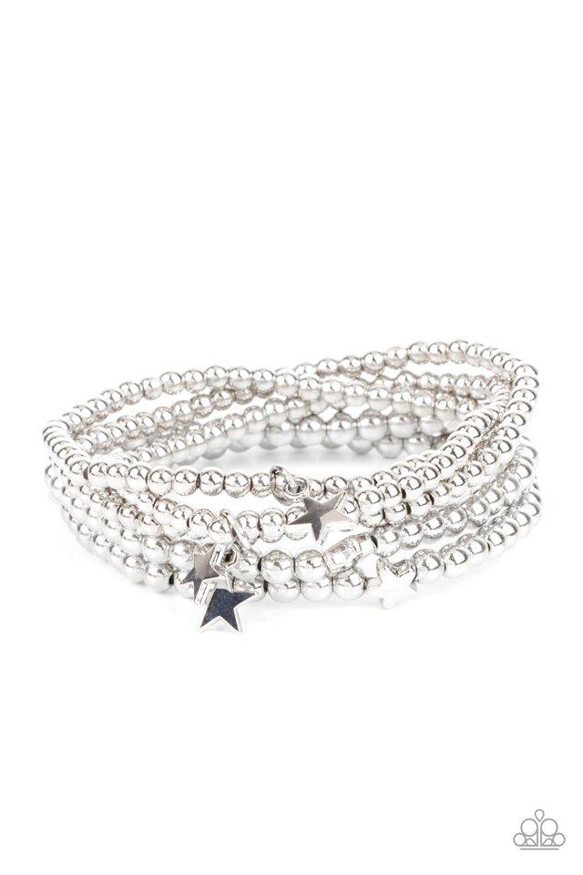 American All-Star - Silver - Paparazzi Bracelet Image