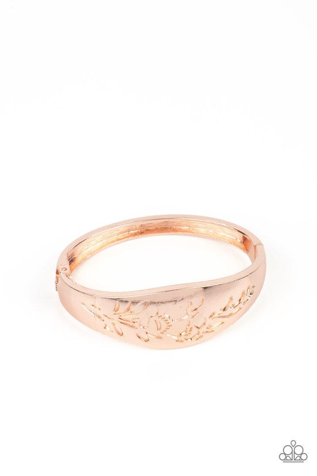 Fond of Florals - Rose Gold - Paparazzi Bracelet Image