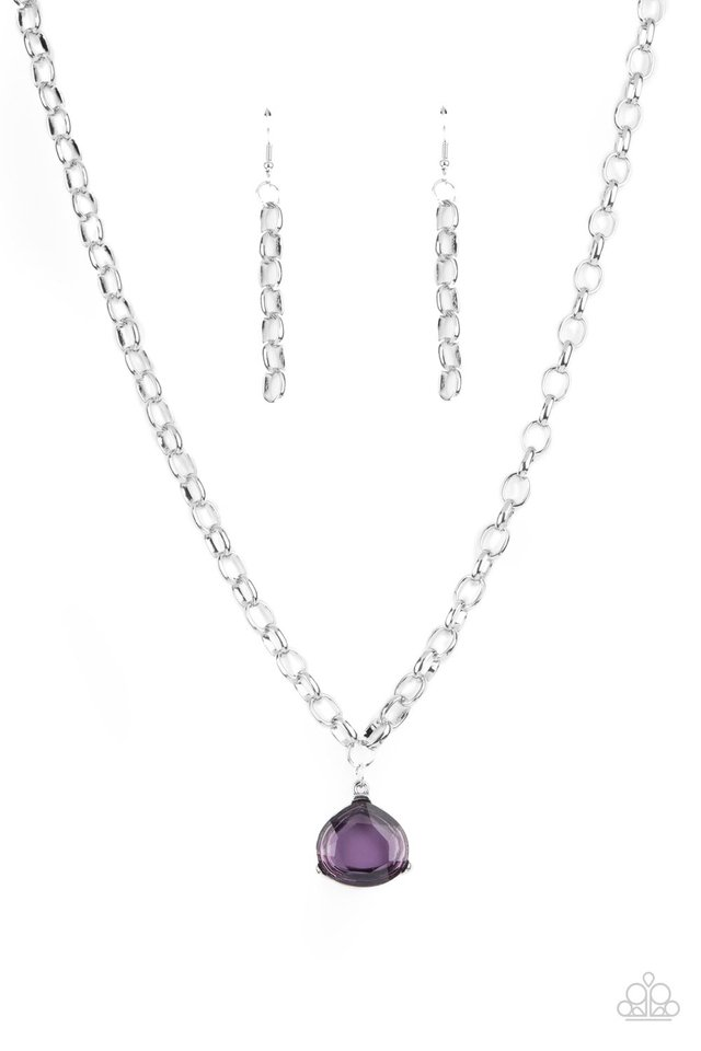 Gallery Gem - Purple - Paparazzi Necklace Image