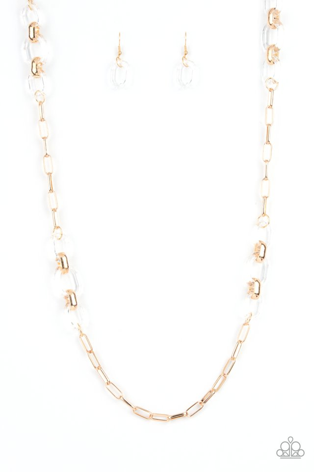 Have I Made Myself Clear? - Gold - Paparazzi Necklace Image