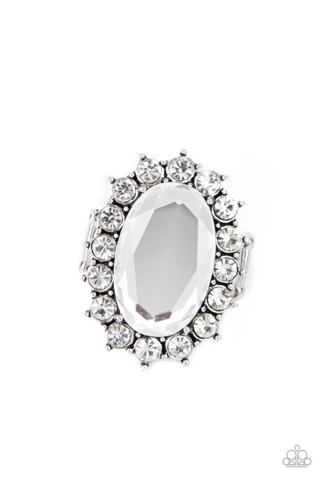 Bling Of All Bling - White - Paparazzi Ring Image