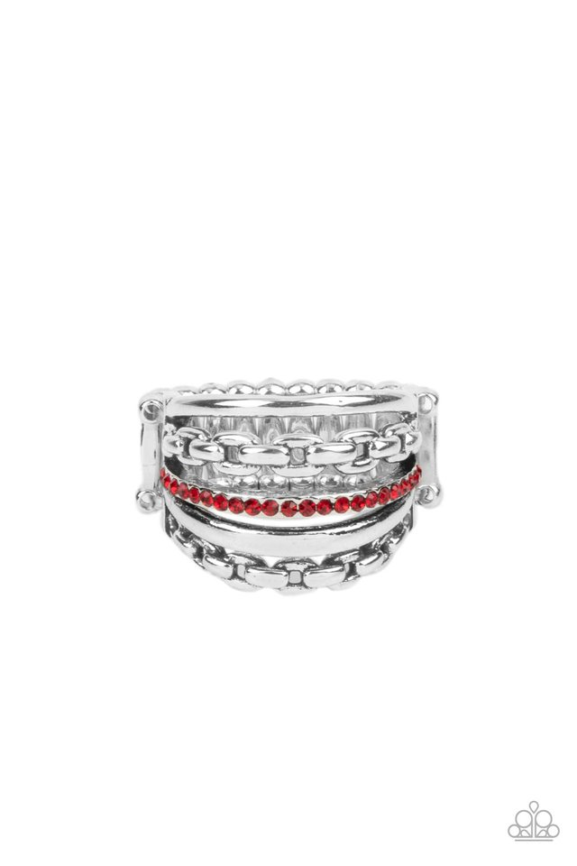 LINK Out Loud - Red - Paparazzi Ring Image