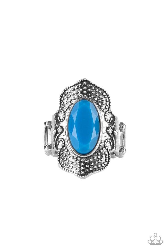Taj Mahal Trendsetter - Blue - Paparazzi Ring Image