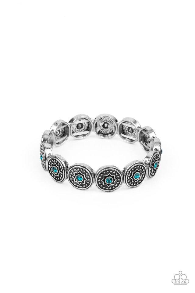 Colorfully Celestial - Blue - Paparazzi Bracelet Image
