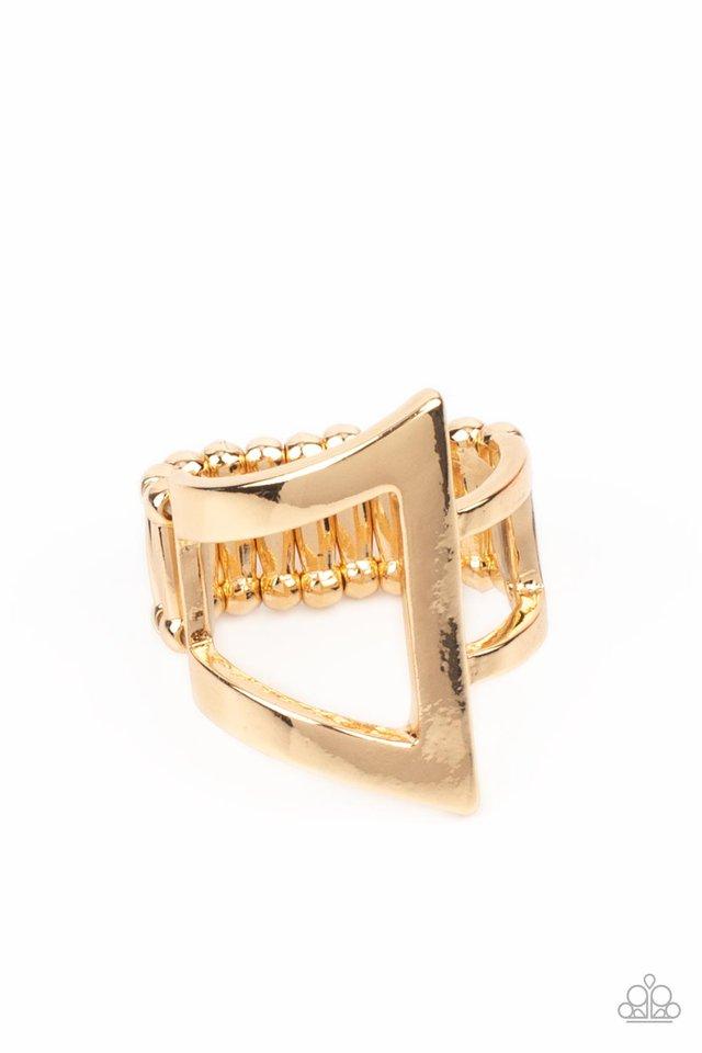 Rebel Edge - Gold - Paparazzi Ring Image