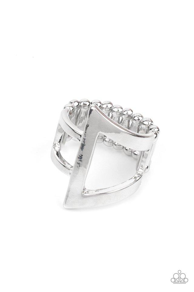 Revel Edge - Silver - Paparazzi Ring Image
