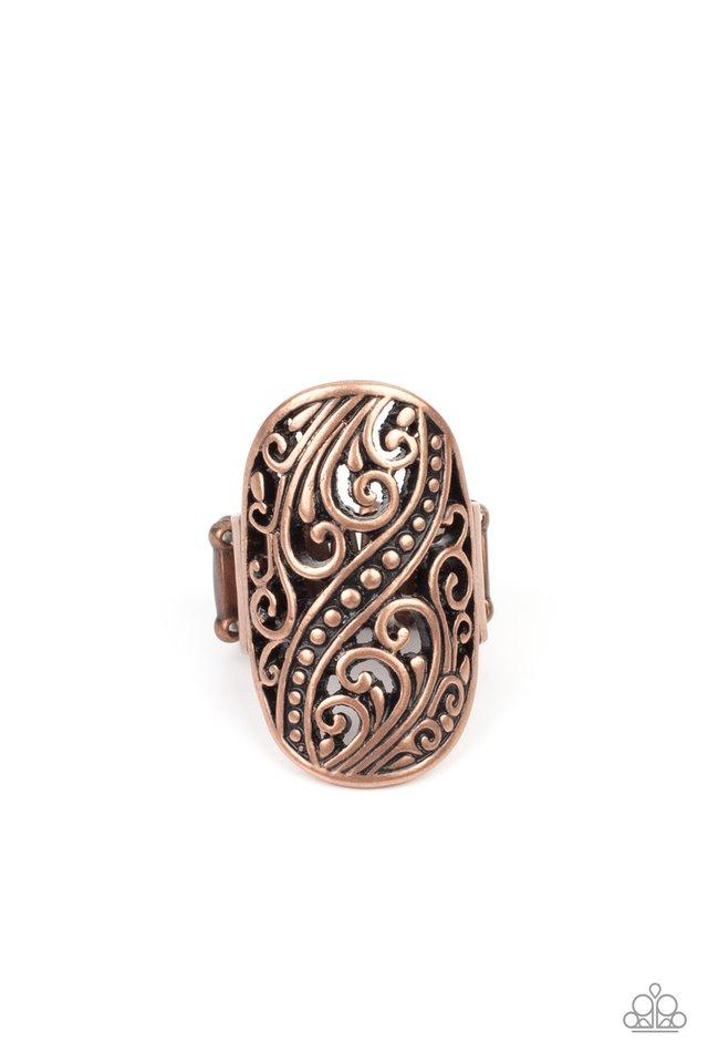 Pier Paradise - Copper - Paparazzi Ring Image
