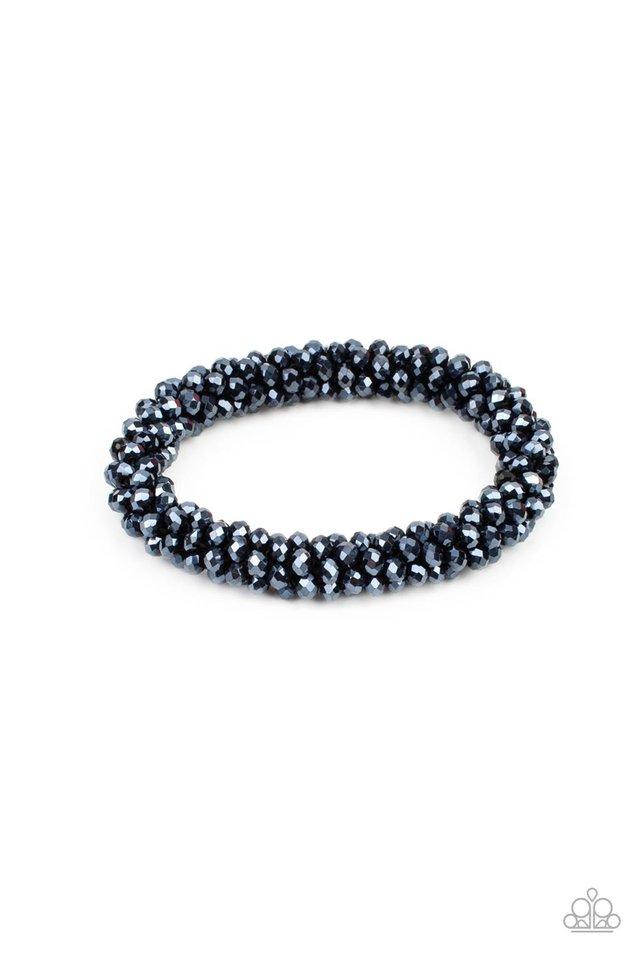 Wake Up and Sparkle - Blue - Paparazzi Bracelet Image