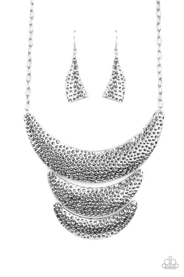 Moonwalk Magic - Silver - Paparazzi Necklace Image