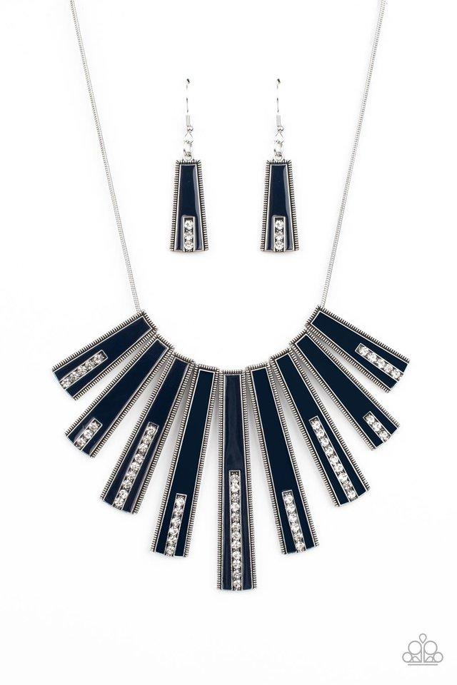 FAN-tastically Deco - Blue - Paparazzi Necklace Image