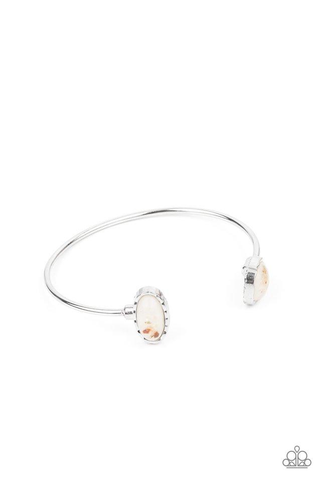 Dont BEAD Jealous - White - Paparazzi Bracelet Image