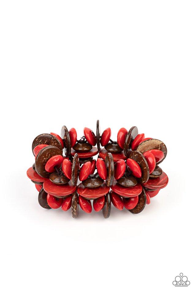 Caribbean Canopy - Red - Paparazzi Bracelet Image