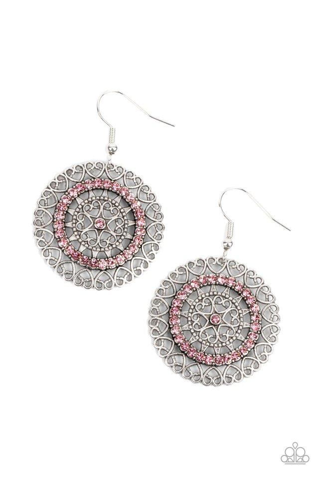 Fairytale Finale - Pink - Paparazzi Earring Image