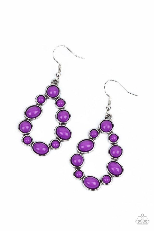 POP-ular Party - Purple - Paparazzi Earring Image