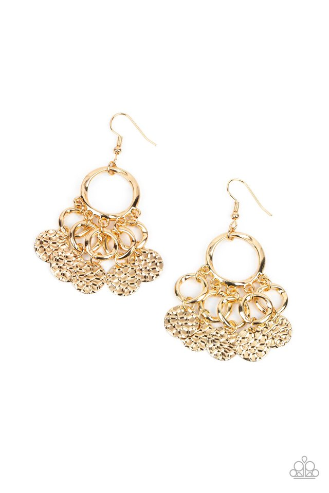 Partners in CHIME - Gold - Paparazzi Earring Image