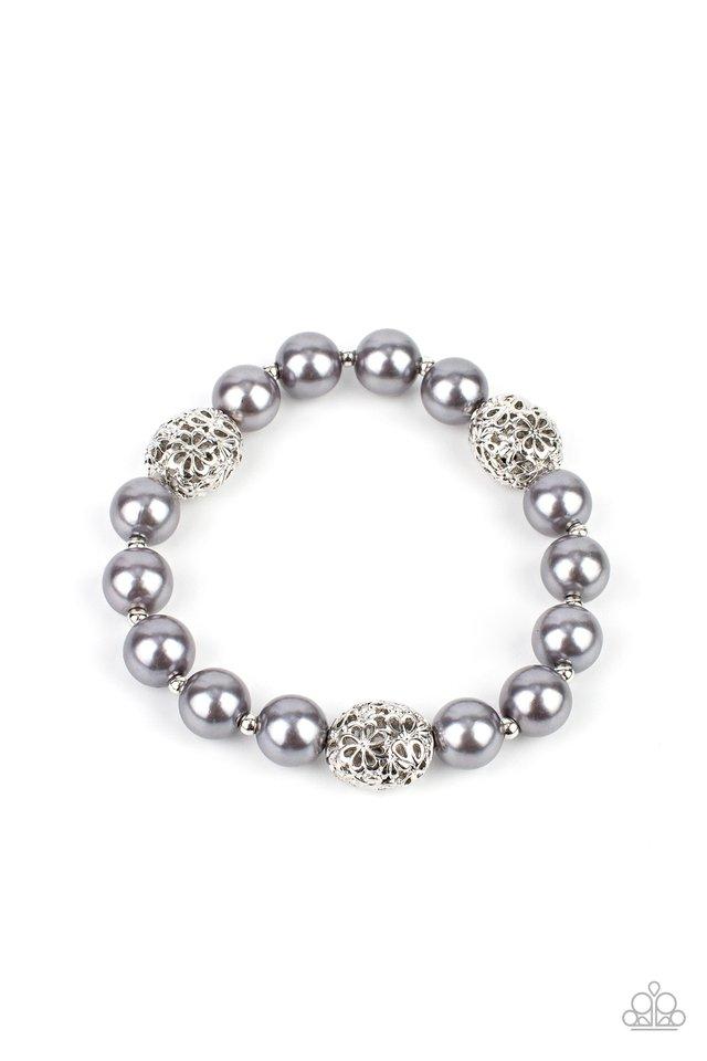 Upscale Whimsy - Silver - Paparazzi Bracelet Image