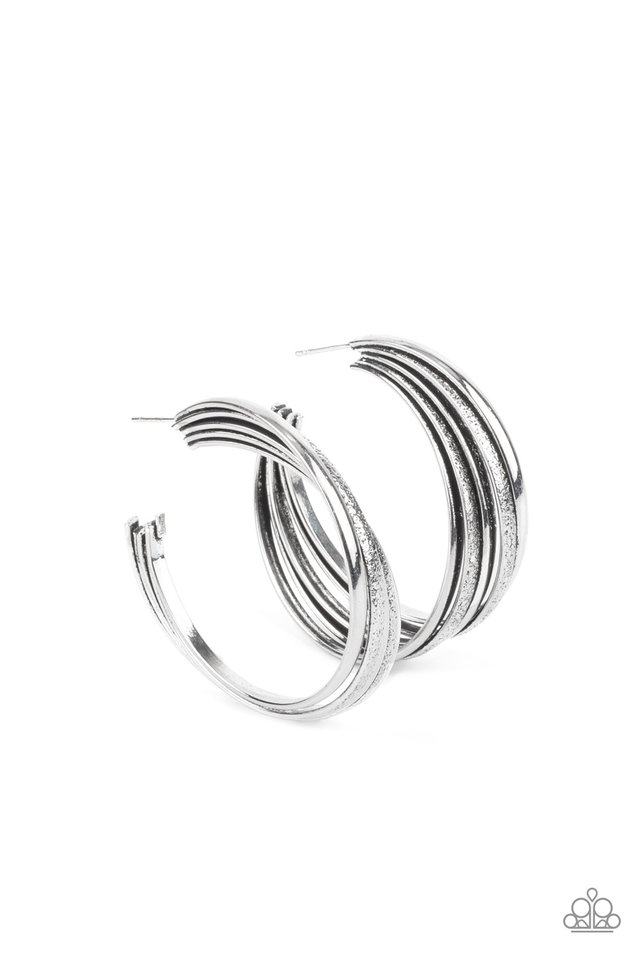 In Sync - Silver - Paparazzi Earring Image