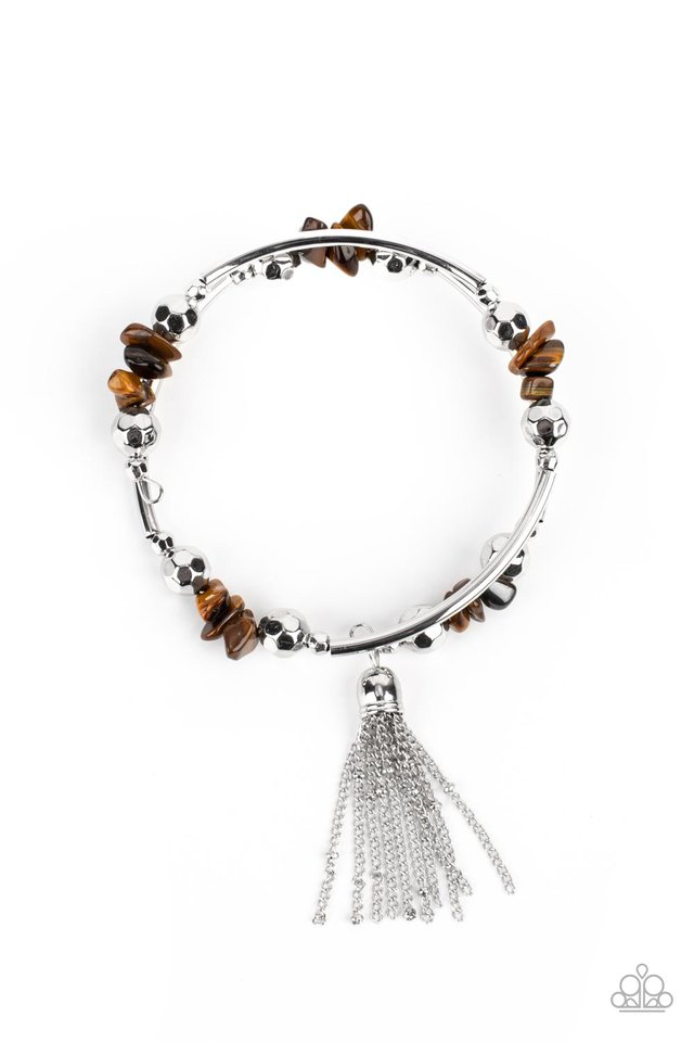 Mineral Mosaic - Brown - Paparazzi Bracelet Image