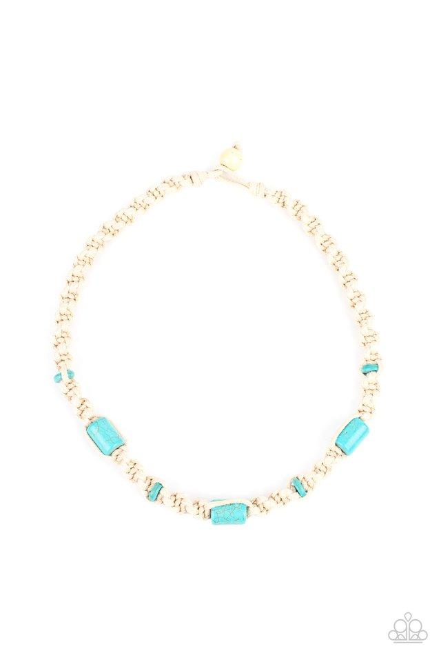 Explorer Exclusive - Blue - Paparazzi Necklace Image