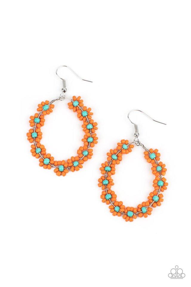 Festively Flower Child - Orange - Paparazzi Earring Image