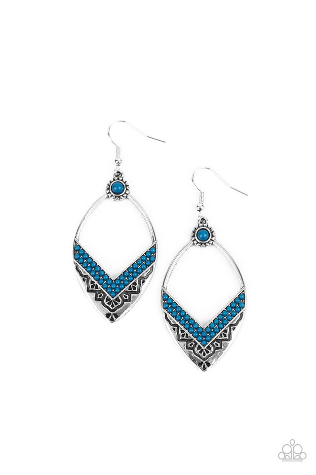 Indigenous Intentions - Blue - Paparazzi Earring Image