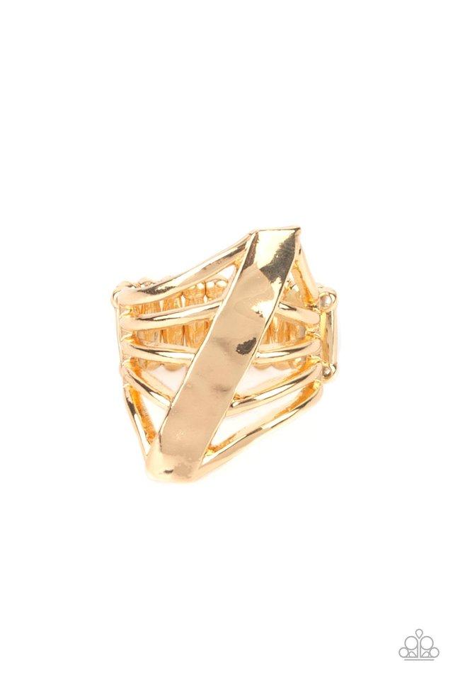 Encrypted Edge - Gold - Paparazzi Ring Image