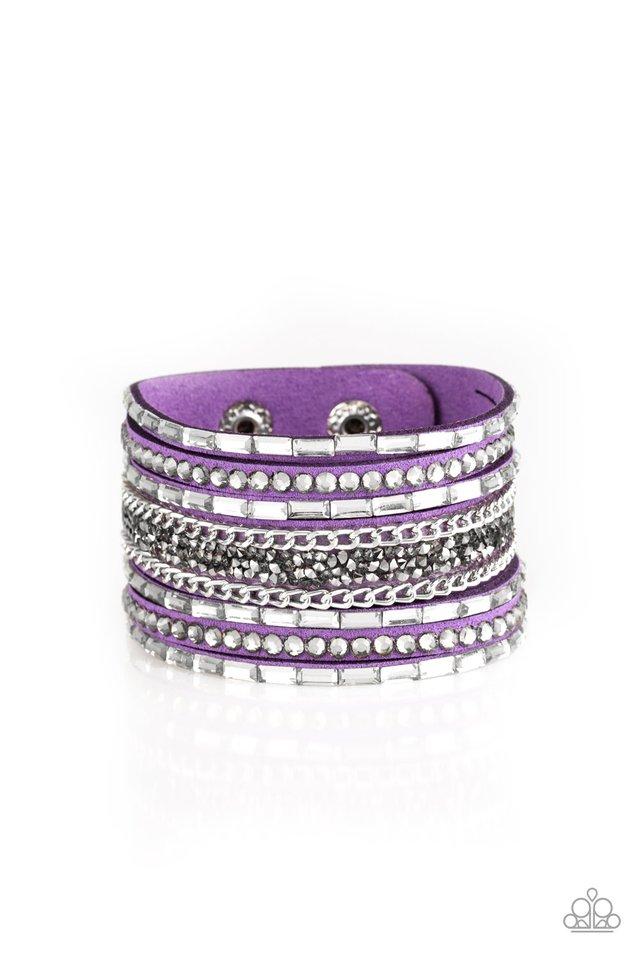 Rhinestone Rumble - Purple - Paparazzi Bracelet Image