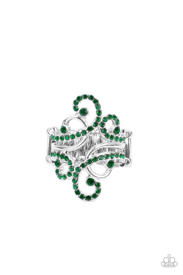 Billowing Beauty - Green - Paparazzi Ring Image