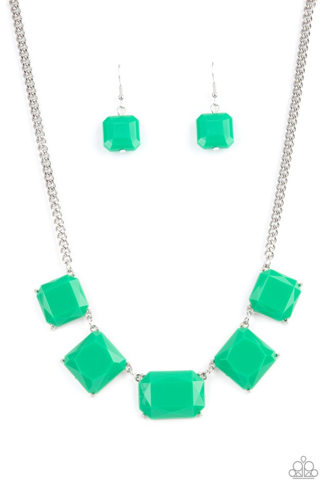 Instant Mood Booster - Green - Paparazzi Necklace Image