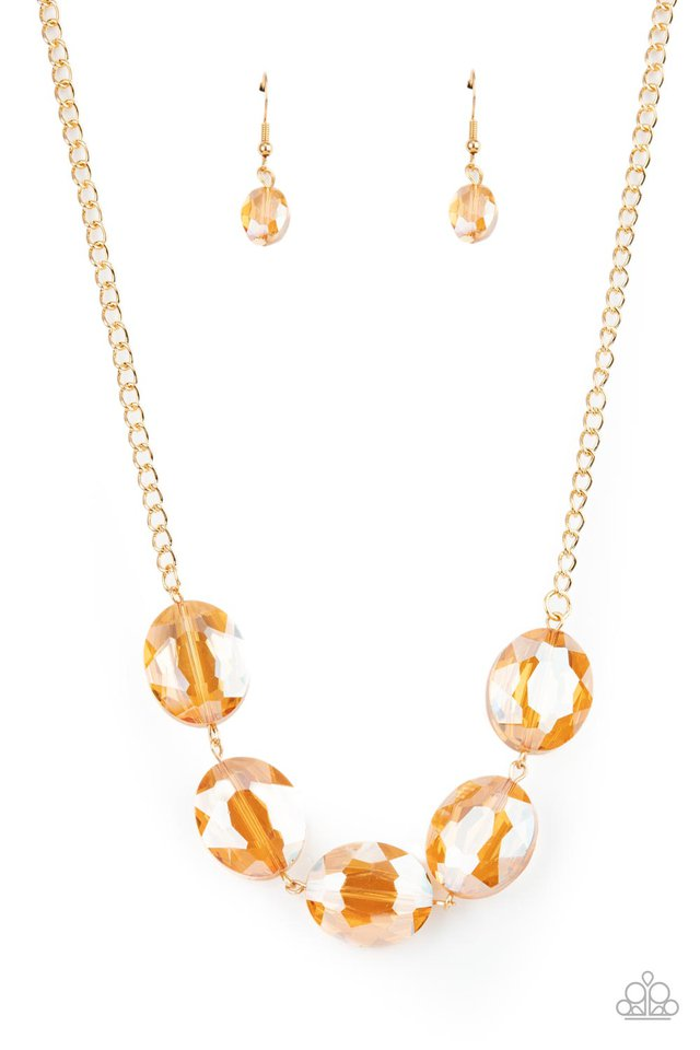 Cosmic Closeup - Gold - Paparazzi Necklace Image