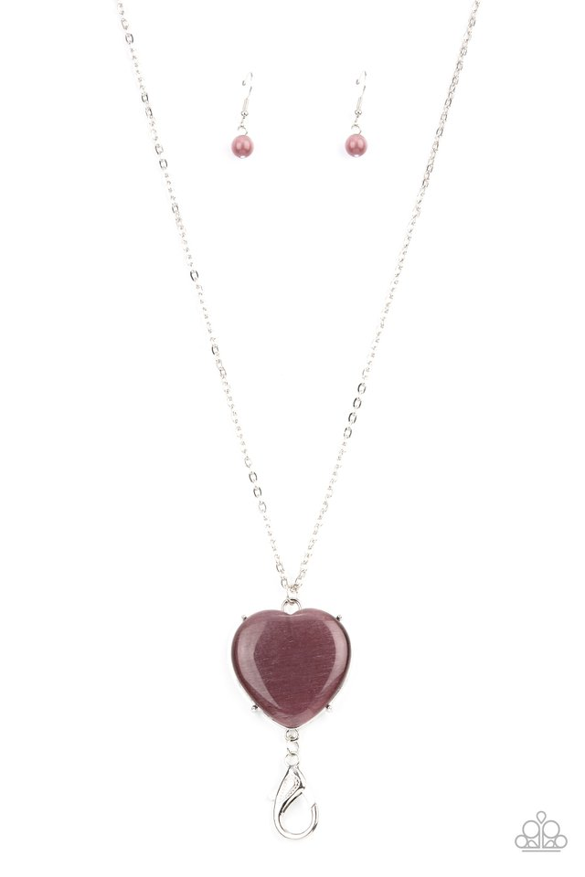 Warmhearted Glow - Purple - Paparazzi Necklace Image