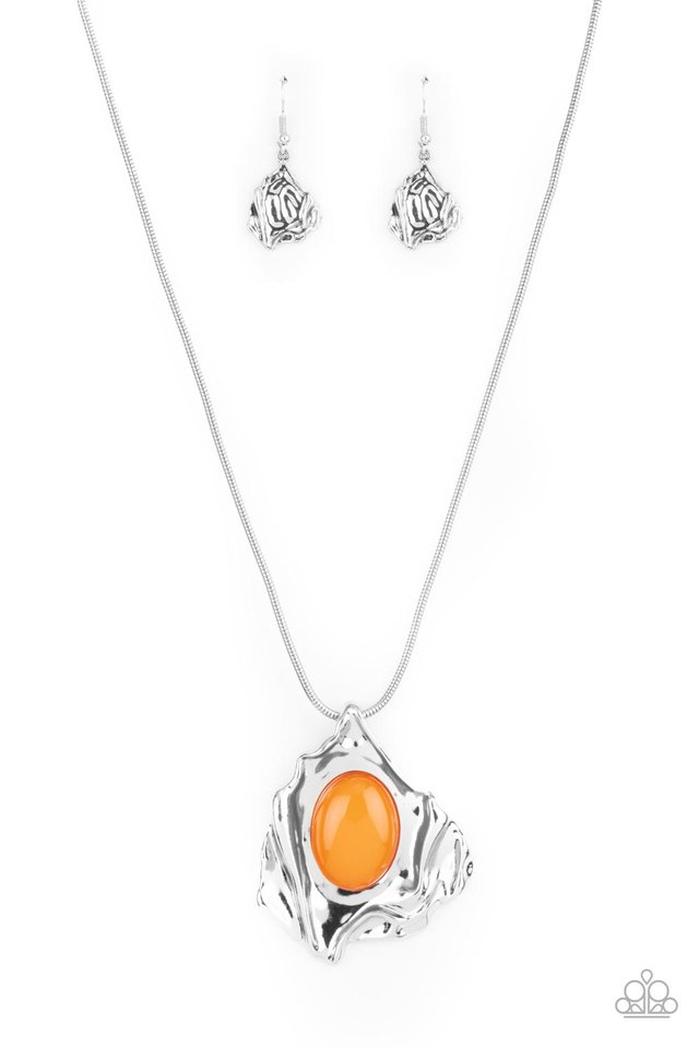 Amazon Amulet - Orange - Paparazzi Necklace Image