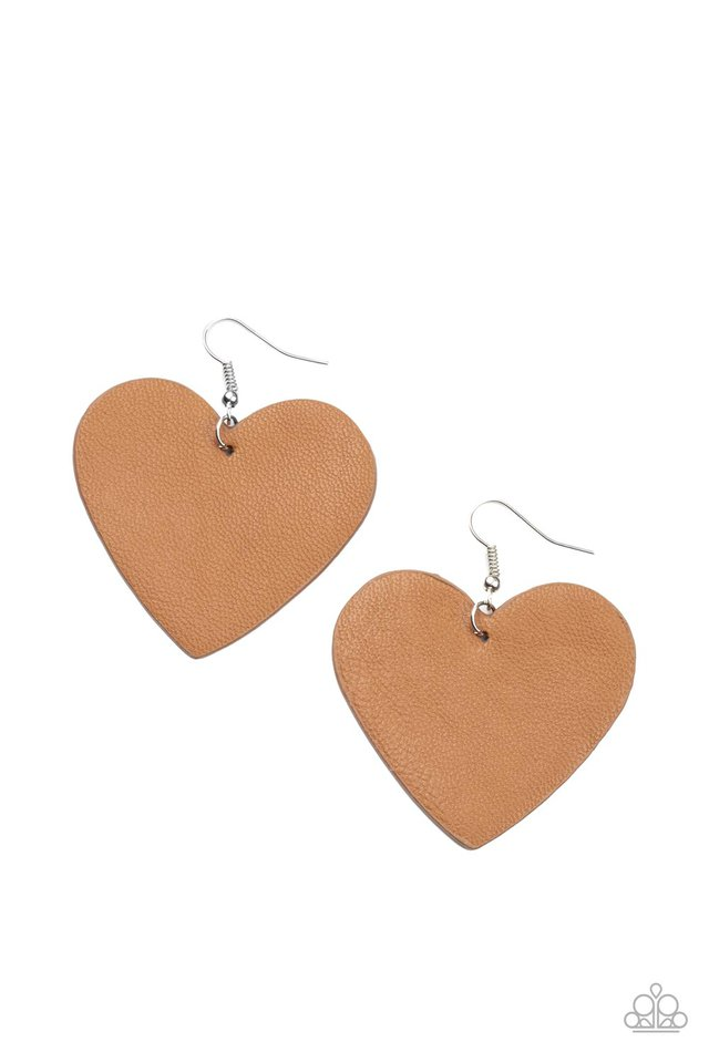 Country Crush - Brown - Paparazzi Earring Image
