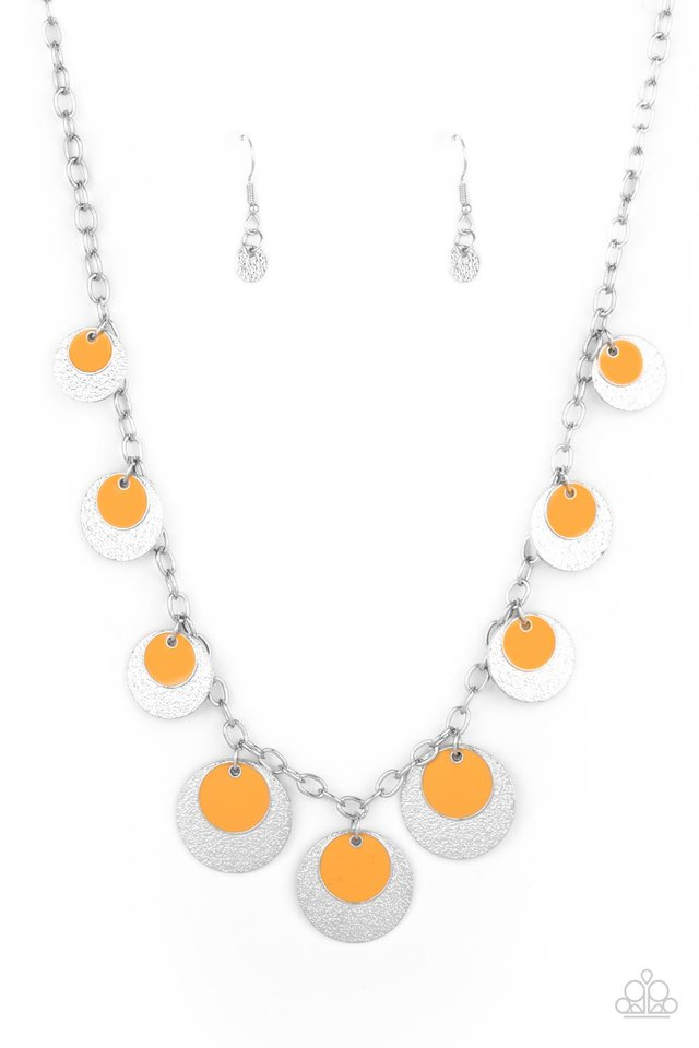 The Cosmos Are Calling - Orange - Paparazzi Necklace Image