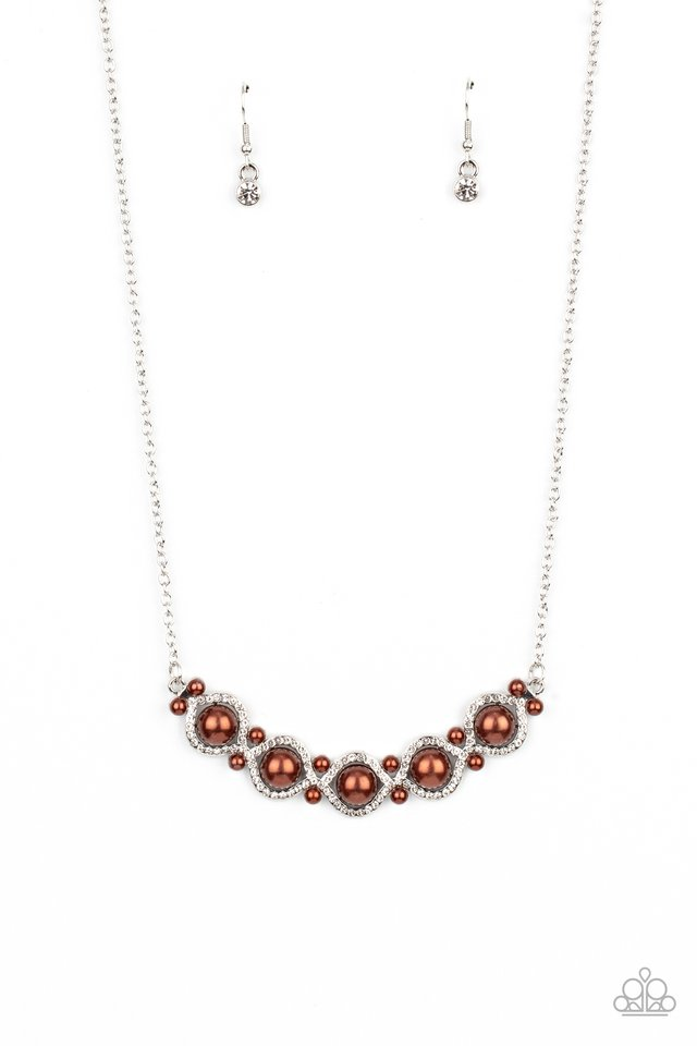 Life of The Wedding Party - Brown - Paparazzi Necklace Image