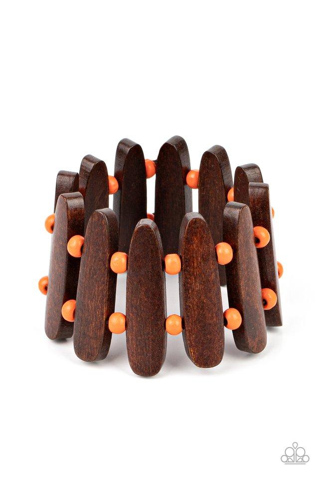 Coronado Cabana - Orange - Paparazzi Bracelet Image