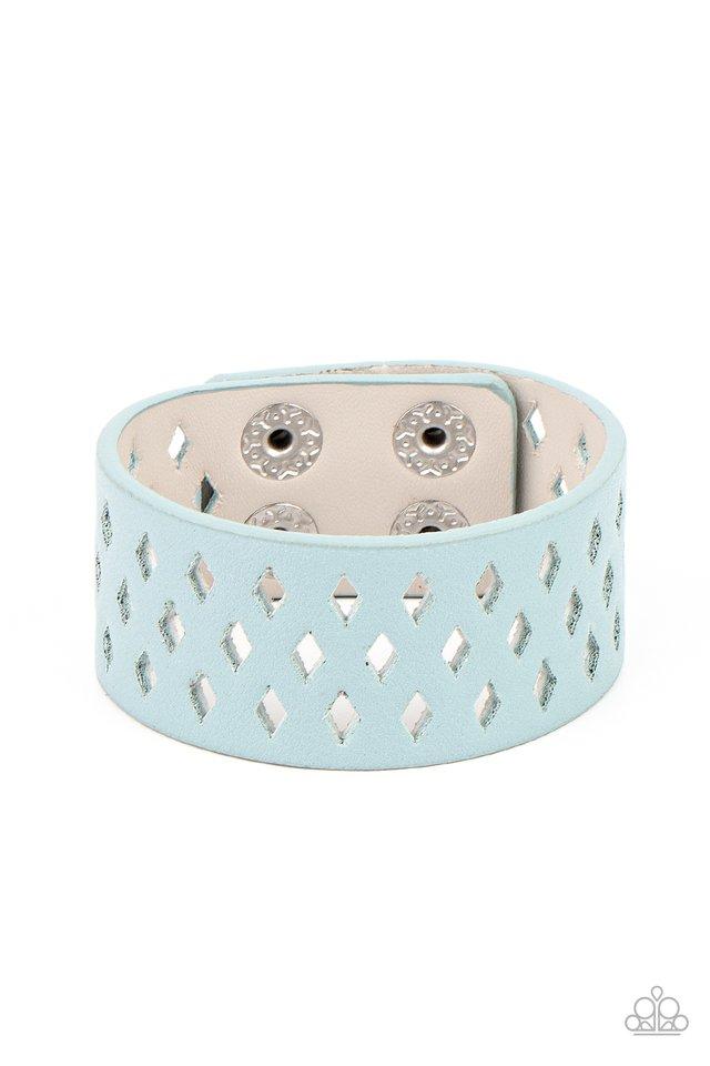 Glamp Champ - Blue - Paparazzi Bracelet Image