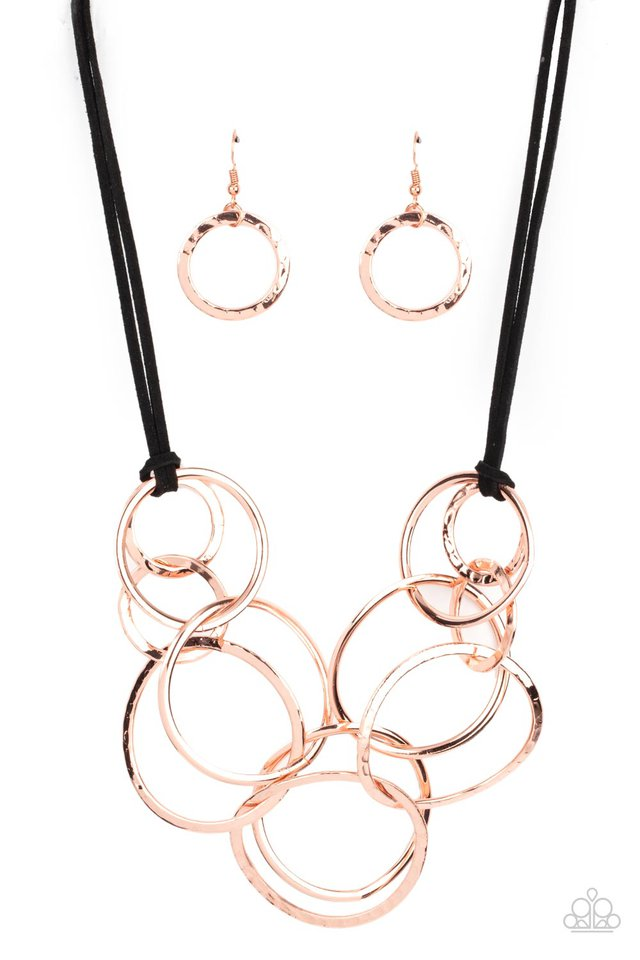 Spiraling Out of COUTURE - Copper - Paparazzi Necklace Image