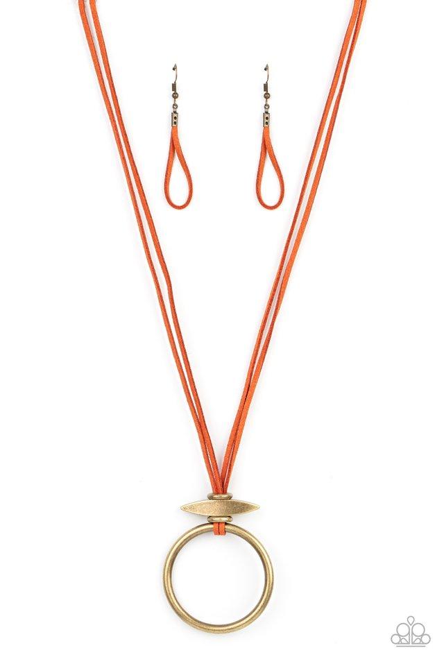 Noticeably Nomad - Orange - Paparazzi Necklace Image
