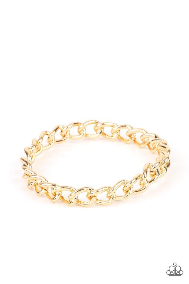 Rebel Radar - Gold - Paparazzi Bracelet Image