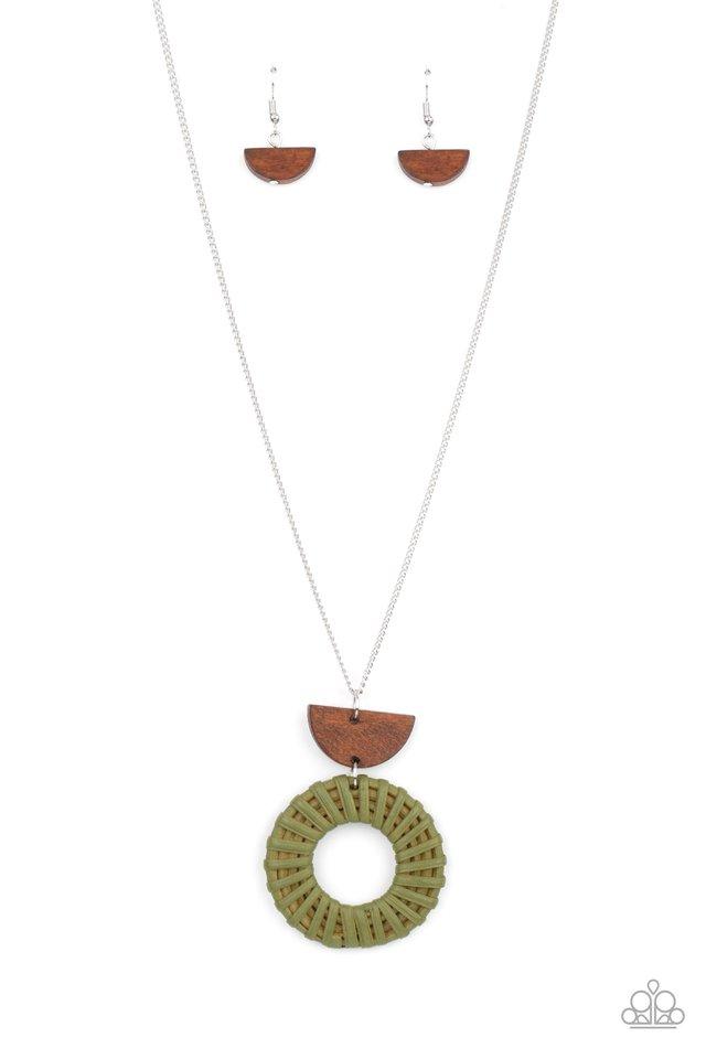 Homespun Stylist - Green - Paparazzi Necklace Image
