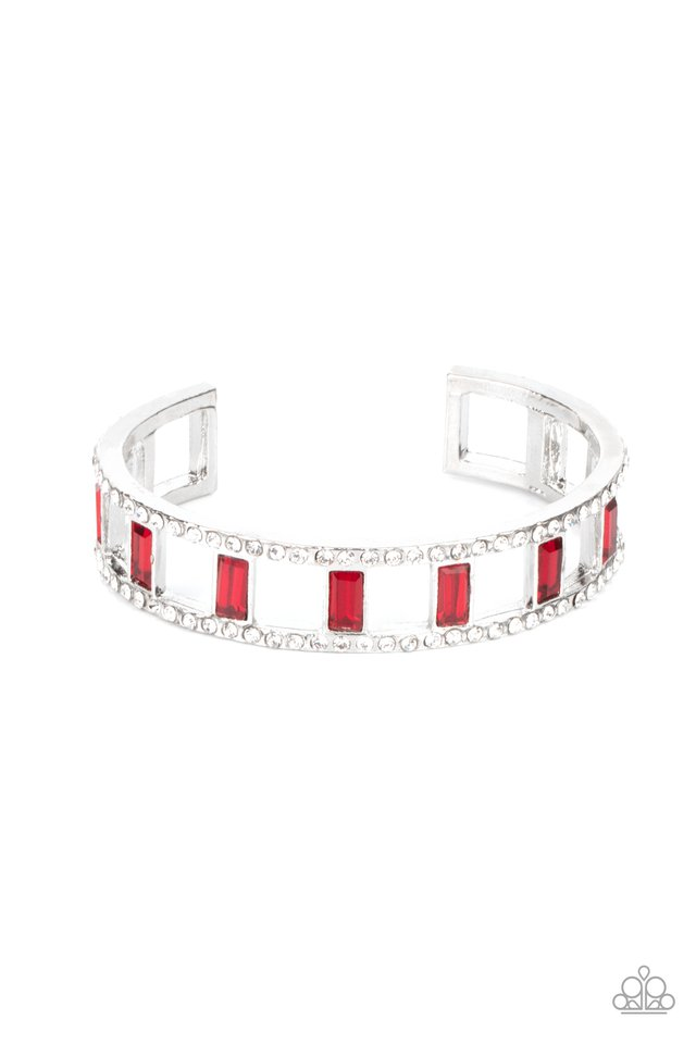 Industrial Icing - Red - Paparazzi Bracelet Image