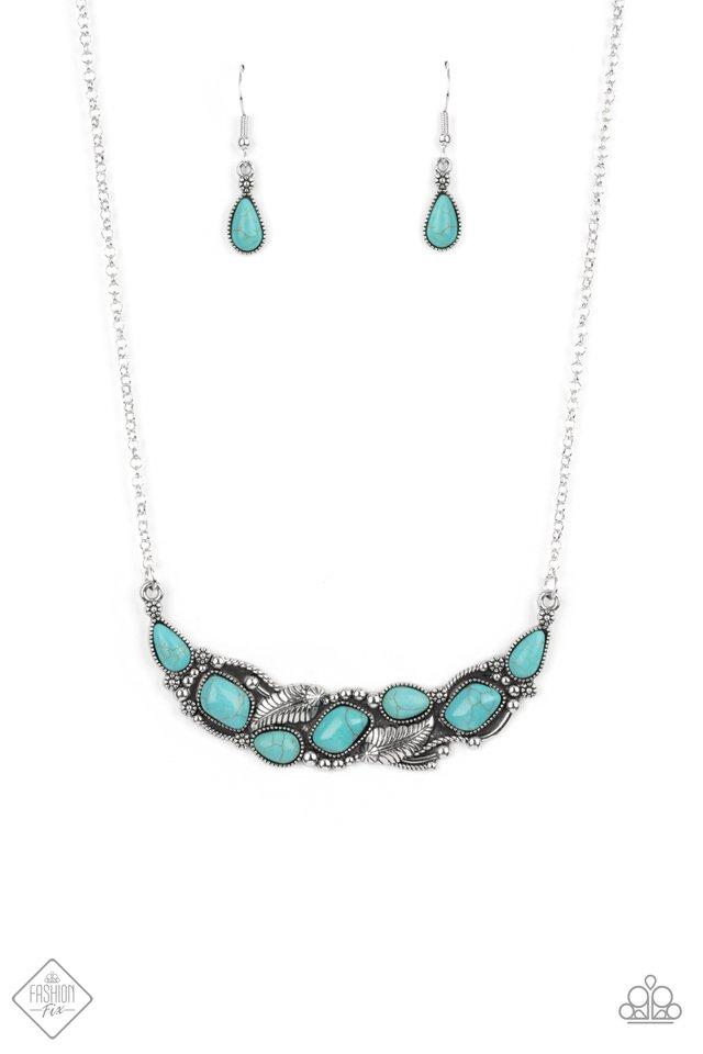Cottage Garden - Blue - Paparazzi Necklace Image