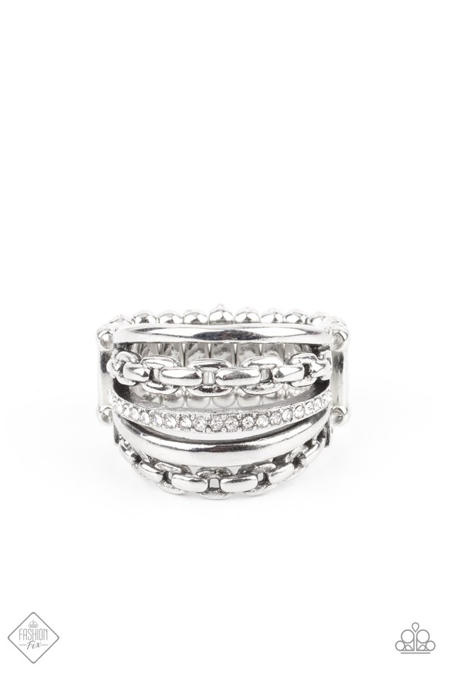 LINK Out Loud - White - Paparazzi Ring Image