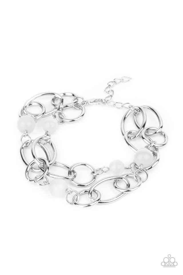 Delightfully Daydreamy - White - Paparazzi Bracelet Image