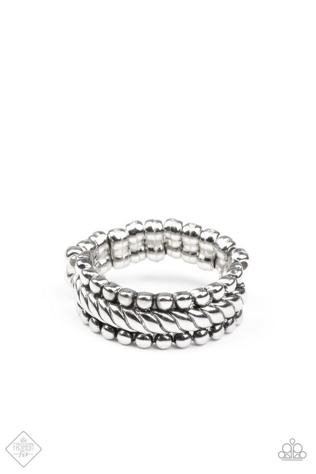 Tangible Texture - Silver - Paparazzi Ring Image
