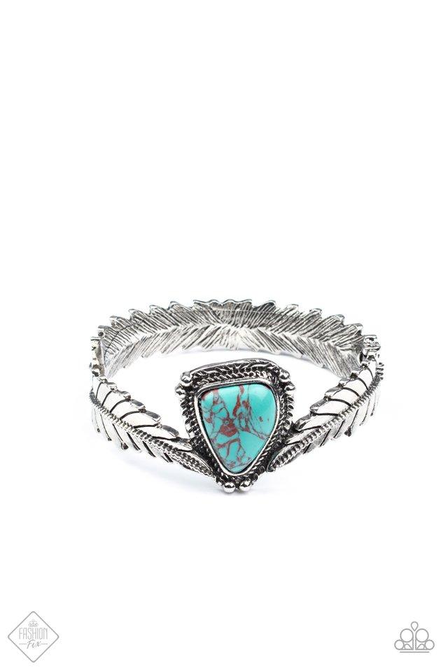 Desert Roost - Blue - Paparazzi Bracelet Image