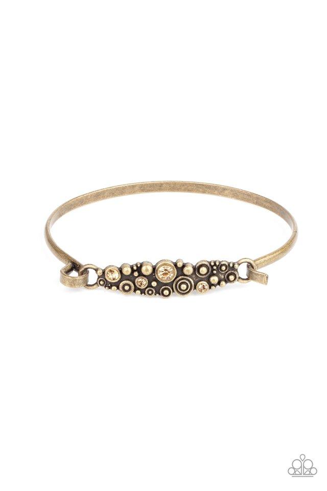 Bubbling Whimsy - Brass - Paparazzi Bracelet Image