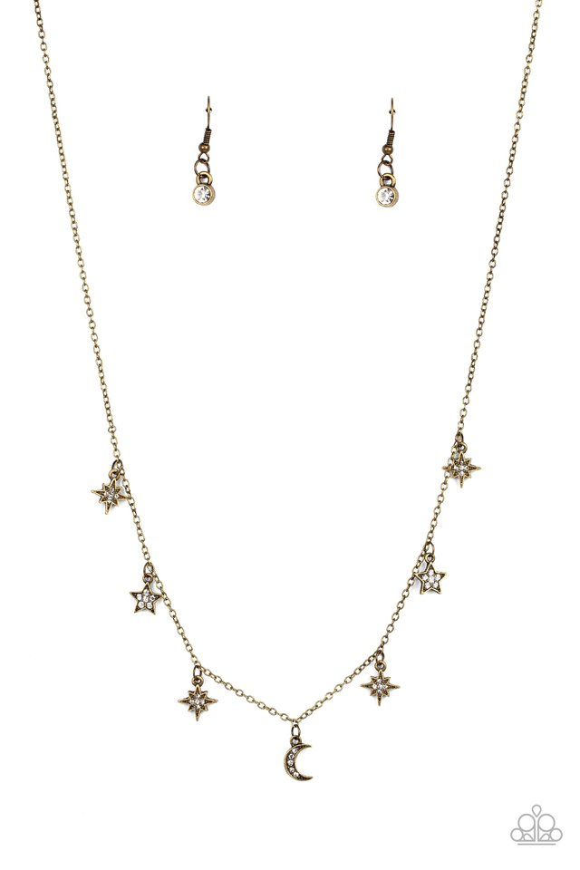 Cosmic Runway - Brass - Paparazzi Necklace Image