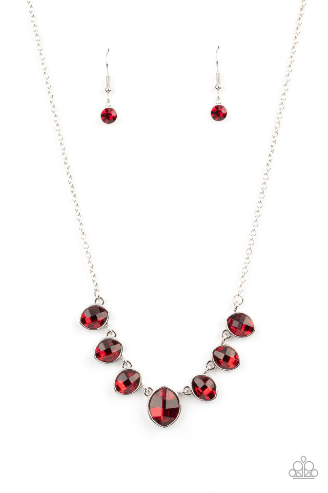 Material Girl Glamour - Red - Paparazzi Necklace Image